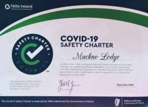 Muckno Lodge - Failte Ireland Covid-19 Safety Charter Certificate